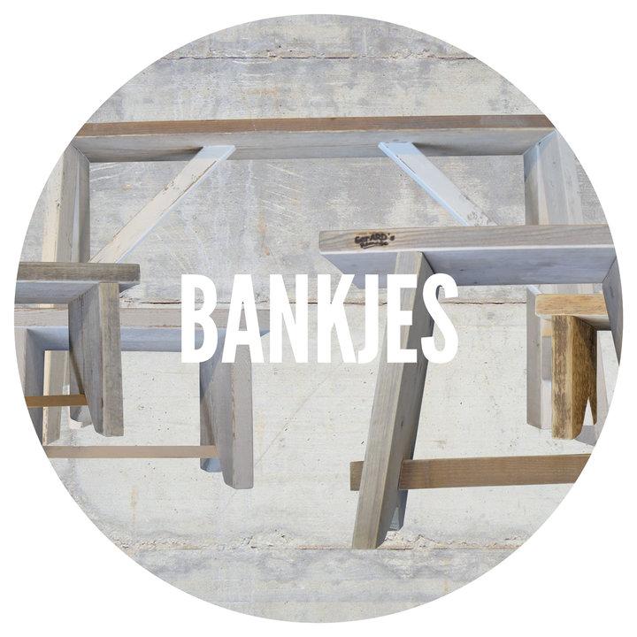 Bankjes en krukjes gemaakt door GerARD's Remake