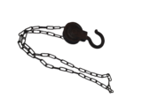 STOER ijzer katrol/lier met ketting rond 6_