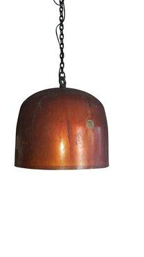 Industriële koperen lamp