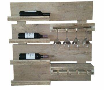 Wand wijnrek 77br x 85
