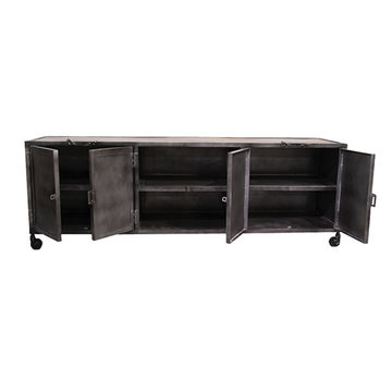 Tv dressoir metal Industrieel 180 x 40 x 60