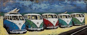 3 D Art  60 cm x 150 cm VW busjes