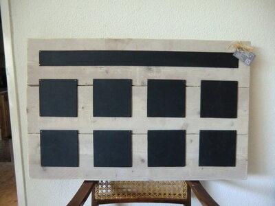 krijtbord met 9 bordjes
